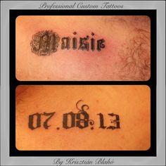 Name & date tattoo