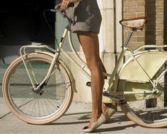 bike + ballet flats + legs