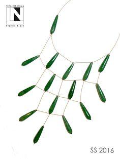 #loranikolova #bijoux&art #necklace #colors #art #madeinitaly #green #stone