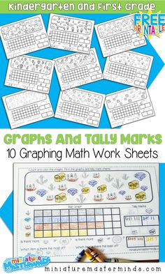 10 Free Printable Graphing Worksheets For Kindergarten and First Grade ⋆ Miniature Masterminds, , 10 Free Printable Graphing Worksheets For Kindergarten and First Grade. Graphing First Grade, First Grade Worksheets, School Worksheets, 1st Grade Math, Graphing Worksheets, Graphing Activities, Numeracy, Math Games, Picture Graph Worksheets
