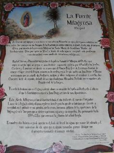 Capilla Del Pocito, documento exposto em seu interior. A Capela fica no entorno da Basílica de N Sra de Guadalupe,cidade do México. Foto : Cida Werneck