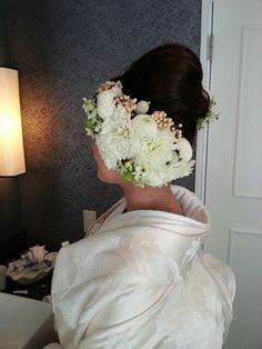 hair Wedding Kimono, Floral Hair, Japanese Kimono, Wedding Hairstyles, Fashion, Weddings, Moda, Flowers For Hair, Fashion Styles