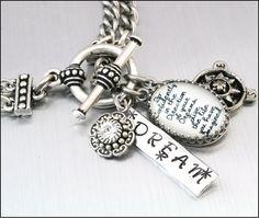 Inspirational Bracelet Silver Inspirational by BlackberryDesigns, $43.00