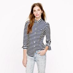 J.Crew striped shirt Horizontal stripe shirt with button up and collar J. Crew Tops