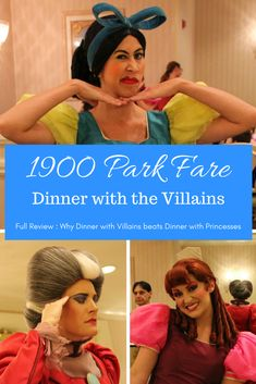 As a general rule, villains are more fun than the good guys at Disney Parks. Find out why dinner at 1900 Park Fare checks the Princess and Villain box! Disney World Food, Disney World Restaurants, Walt Disney World Vacations, Disney World Resorts, Disney Travel, Family Vacations, Disney Parks, Disney World Tips And Tricks, Disney Tips