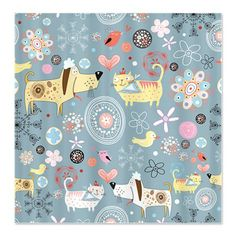 Dogs and Cats Shower Curtain by BestShowerCurtains