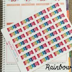 Rainbow Day Off Banner Stickers for Erin Condren Life Planner/Happy Planner - set of 32