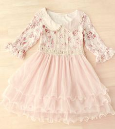 A cute lovely pink dress! Little Girl Outfits, Little Girl Dresses, Toddler Outfits, Flower Girl Dresses, Boho Dress, Pink Dress, Lace Dress, Love Fashion, Kids Fashion
