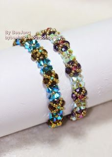 Tutorial : Skinny Bracelet    Level  : Beginner       Materials  :  The quanity listed here is for 6.5 inches.  - 36 pcs. Swarovski Crystal...