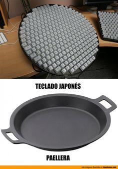 Parecidos razonables: Teclado japonés - Paellera.