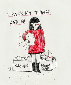 Saskia Keultjes Illustration • Today: I deserve to be happy by Saskia Keultjes... | via Tumblr