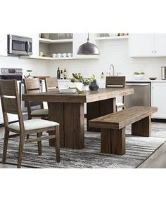 abilene solid pine dining table dining room tables furniture rh pinterest com macy's furniture dining room chairs macy's martha stewart dining room furniture