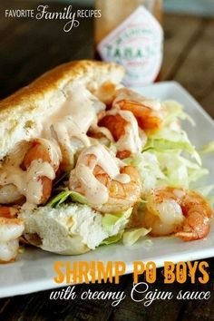#Recipe / Shrimp Po Boy Recipe (with creamy Cajun sauce) | The Man With The Golden Tongs | Scoop.it