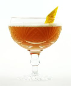 East India House Cocktail ~ brandy, rum, pineapple juice, curacao, orange bitters