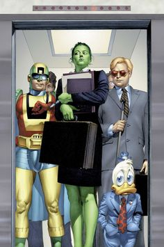 Jennifer Walters (She Hulk), Matt Murdock (Daredevil) & Howard the Duck ....Mike Mayhew
