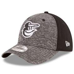 Baltimore Orioles New Era Shadowed Team 39THIRTY Flex Hat - Heathered Gray/Black - $27.99
