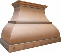 Artisan™ - Custom Range Hood in Copper, Stainless Steel, Brass - Premium Kitchen Ventilation Copper Hood Vent, Kitchen Ventilation, Custom Range Hood, Stove Hoods, Farmhouse Style Kitchen, Farmhouse Kitchens, Range Hoods, Elements Of Design, Luxury Homes Interior
