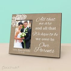 This personalized photo frame is the perfect give & will be cherished for years to come!    • • • • • • • • • • • • • • • • • • • • • • • • • • • •