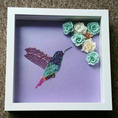Hummingbird in flat back pearls