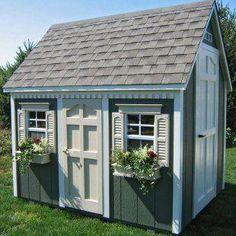cottage+outside+play+house | ... Foot Backyard Cottage Playhouse - Outdoor Playhouses at Play Houses #outsideplayhouse