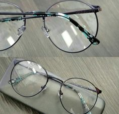 Armação redonda óculos de grau