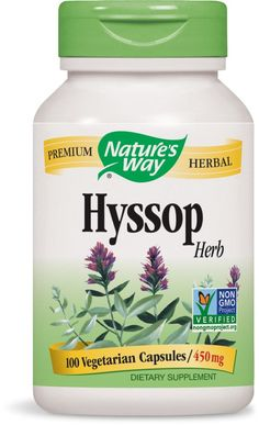 Nature's Way Hyssop, 100 Capsules ** Find out more about the great product at the image link. (This is an Amazon Affiliate link and I receive a commission for the sales)