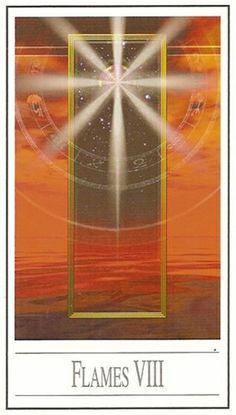 8 des flammes (bâtons) - Tarot Ananda par Ananda Kurt Pilz
