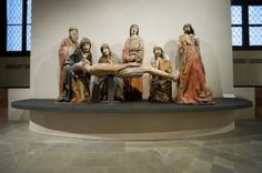 Lamentation Over the Dead Christ, ca. 1480, Domenico Merzagora (?), poplar wood carved and painted