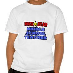 Rock Star Middle School Teacher T Shirt, Hoodie Sweatshirt