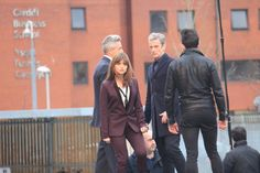 Nice look for Clara here. The dark shirt also suits Capaldi.