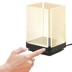 Energizer Edge LED Accent Light Touch Control Contemporary Modern Box Table Lamp