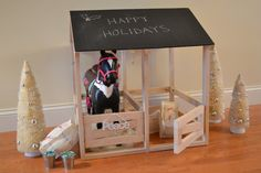 Horse Stable sized for American Girl or 18 by DempseyWoodcraft Country Girl Bedroom, Country Girls, Girls Bedroom, Hero's Journey, Horse Stables, Santas Workshop, Horse Girl, Homemade Gifts, Girl Dolls