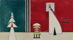 "Wassily Kandinsky's Pictures at an Exhibition: Picture II. The Old Castle (Das alte Schloss)"". 1928"