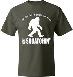 BIGFOOT Gone Squatchin Tshirt Soft Ringspun by ApparelUnited