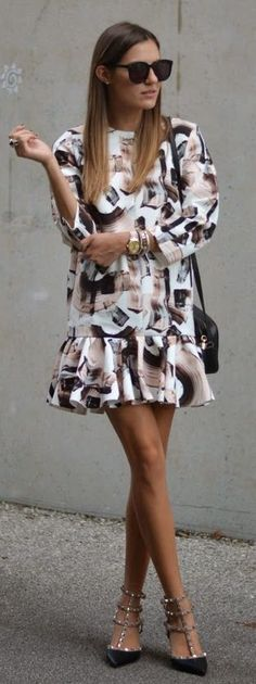 Modern Frill Inspiration Dress by The Quarter Life closet - a pretty dress is all you need. #chic #streetstyle