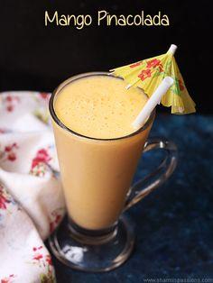 mango pina colada recipe an easy mocktail.easy mango colada recipe with basic ingredients in your kitchen.how to make mango pina colada recipe.