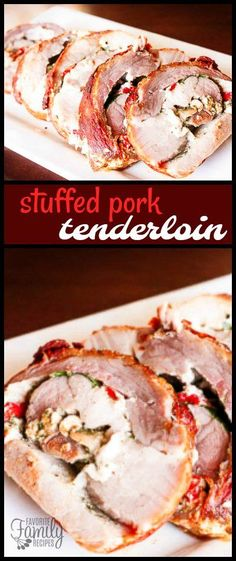 This Italian Stuffed Pork Tenderloin is quite possibly the best pork tenderloin I have ever had. The filling gives the pork so much flavor!