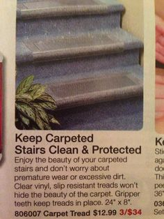 Carpeted Stair Protector.