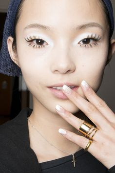Xiao Wen Ju backstage at Maxime Simoëns Fall 2013 RTW ♥♥♥