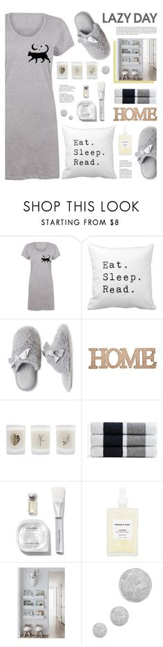 """Sleep In: Lazy Day"" by tamara-p on Polyvore featuring Dearfoams, Home Essentials, Elizabeth Scarlett, James Perse, French Girl, Topshop and LazyDay"