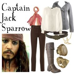 Captain Jack Sparrow by companionclothes on Polyvore featuring H&M, Jane Norman, Wild Diva, LowLuv, Fat Face, Wet Seal and pirates of the carribbean