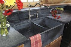 Küchen Spüle - Eine edle Variante aus grauem Speckstein                                                                                                                                                                                 Mehr
