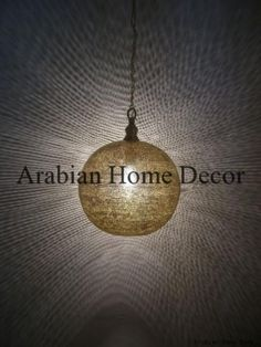 """Handcrafted Gold Brass Moroccan 12"""" Pendant Hanging Lamp Light $139+ $79 #Handmade #Moroccan"""