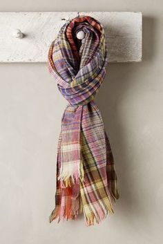 Anthropologie Parma Plaid #Scarf #anthrofave #gift