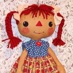 Small doll pattern Cloth Doll Pattern PDF sewing by OhSewDollin Primitive Doll Patterns, Doll Sewing Patterns, Doll Clothes Patterns, Pattern Sewing, Paper Patterns, Sewing Clothes, Softies, Ann Doll, Raggedy Ann And Andy