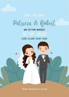 Wedding Art, Wedding Couples, Wedding Invitation Card Template, Wedding Invitations, Wedding Couple Cartoon, Couple Clipart, Wedding Couple Poses Photography, Anime Muslim, Cute Love Cartoons