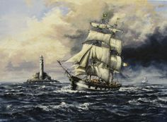 Jeanie Johnston  Acryl auf Leinwand  Tall ship Windjammer Segler