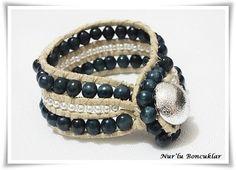 DIY Yeşil-İnci Bileklik  /  DIY Green-Pearl Bracelet