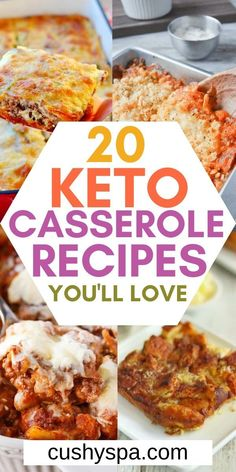 20 Keto Casserole Recipes You'll Love Make these ketogenic casseroles and enjoy a low carb meal that's easy to make. These casseroles are comforting and great when you're on a low carb diet. Keto Foods, Ketogenic Recipes, Diet Recipes, Cooking Recipes, Healthy Recipes, Ketogenic Diet, Dukan Diet, Primal Recipes, Yogurt Recipes