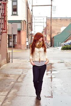 THE RUFFLE HOUSE: Red-head Street Style // WINTER LAYERS